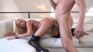 Amazing Blonde Big Tits movie with Big Dick Shaved scenes