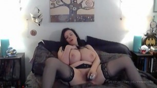 Amazing Big Tits Lovely Lilith joi with her Hitachi