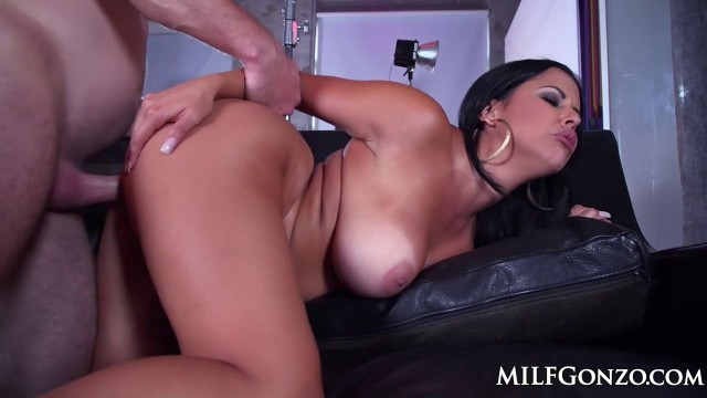 Milfgonzo busty brunette diamond kitty taking it up the ass 3
