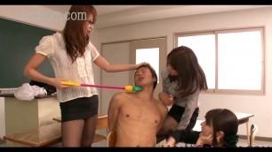 hot japanese teachers blowjob and handjob