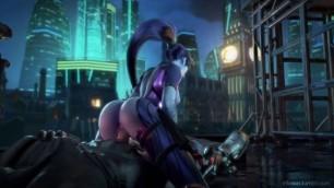 Overwatch Widowmaker Takes Cock