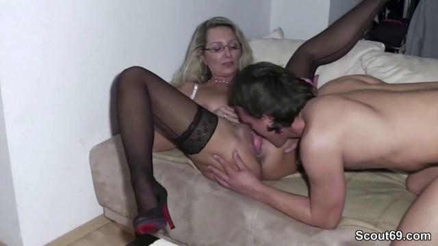 18yr old german stepson seduce 36yr old mom to fuck 6