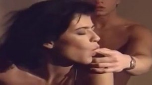 Sensual brunette Rhianna in beautiful lingerie copulates with a man htm
