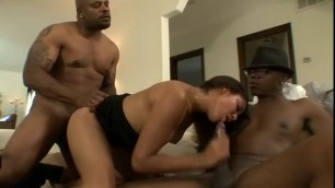 Beauty with two black men Sean Michaels The Black Pack Scene 4