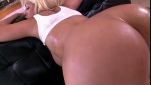 Delightful Blonde Latina Noemie Bubble Butt Anal Pounding