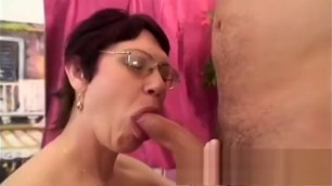 Awesome mature lady Wanda has a young stud hammering her hairy peach