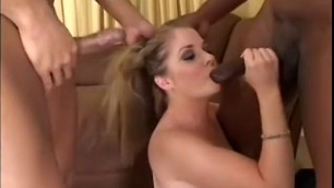 Slutty Girl gets her needy holes fucked hard by a group of black guys