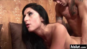 Smoking hot babes make two dicks disappear