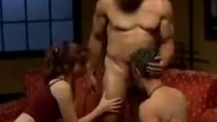 Hot Redhead wife shares and pegs her husband
