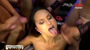 Crafty MILF Barbara Bieber gets gangbanged German Goo Girls