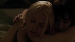 Alexandra Breckenridge nude Whitney Able nude in lesbian sex scene Dark 2015