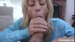 TABOO PORN Stunning Blonde STEP MOM AND SON