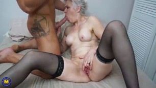 Hot Blonde Granny get fucked real well