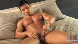 Steve Chen Hot guy caresses his dick