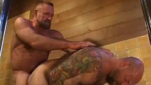 Rob Lawrence & Dan Rhodes hairy guys make lewd love