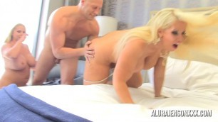 Alura Jenson threesome with Karen Fisher sexy fucked