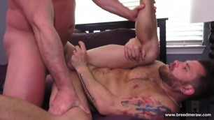 Tyler Reed And Riley Mitchel ride his dick
