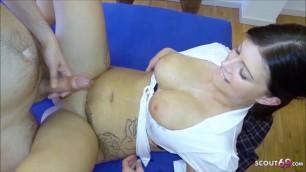 Amateur Gangbang for German Pregnant Teen Katy at GB01