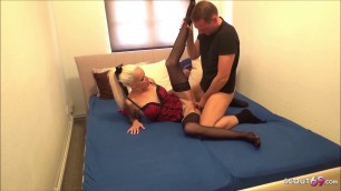 German Mature Sophie Logan at Privat Bareback Sex with Young