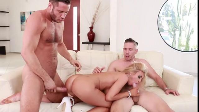Elegant Angel Kayla Kayden's First Official Scene With Two Guys