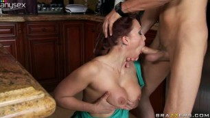 Marathisex Nicki Hunter Gets Her Boobs Kissed And Palmed In The Kitchen