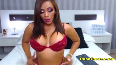 Wide Hip Latina Spanks Her Big Booty And Moans Youiizz