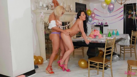 Twistys - Bridgette B And Whitney Wright In Birthday Bummer