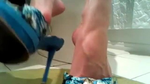 High Heels long black toenails