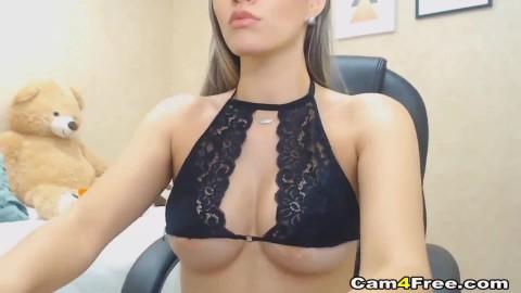 Natural Tit Babe Rides Big Dildo Mom Fucked