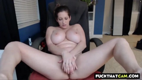 Busty White Woman Fucks Dildo And Sucks Tits On Cam Cougar Sex
