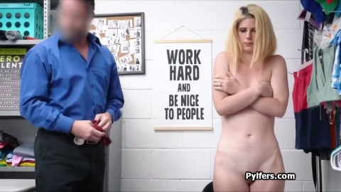Enjoying Blonde Thief Pussy At The Office Nnxn