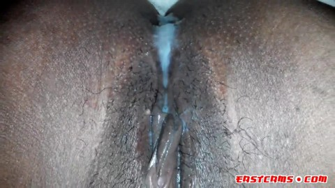 creampie dripping out of girl's pussy