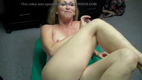 Grandma fingers herself then FREAKS OUT at Porn Casting (Behind the Scenes)