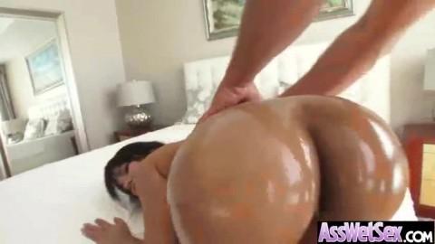 (rose monroe) Luscious Oiled Big Butt Girl Get Anal Sex video-26