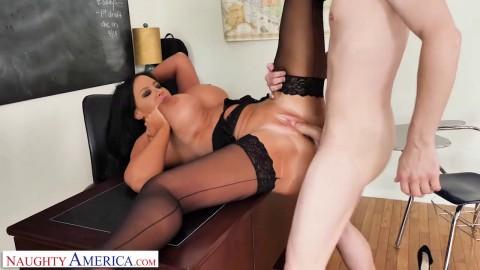 Naughty America - Professor Sybil Stallone sucks and fucks student