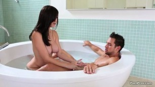 young fucking slag in the hot tub and on the bed hot Holly Michaels