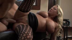 Hot woman MILF Natural Big Boobs in Fishnet