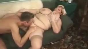 Threesome with BBW BLonde