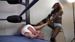 bdsm domination and humiliation ebony gets white blonde