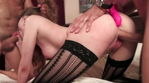 all tied up sexy bdsm game young guy with a big dick fucks a busty girl with a super booty and boobs part 1