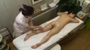 Asian babe with a divine ass gets sexually pleased by