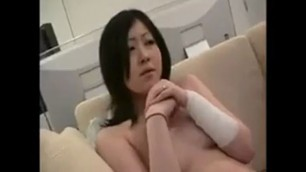 Two enticing Japanese babes engage in hot lesbian
