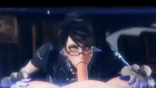 Bayonetta Hentai Deepthroating big dick