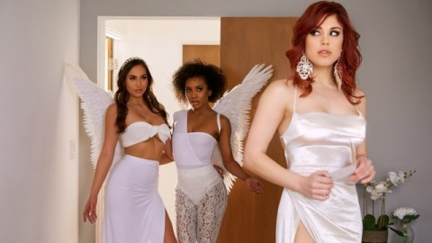 Twistys - Demi Sutra, Molly Stewart And Desiree Dulce In Sky Bound