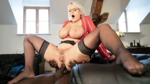 Mom XXX - Anal and facial with big tits MILF Angel Wicky