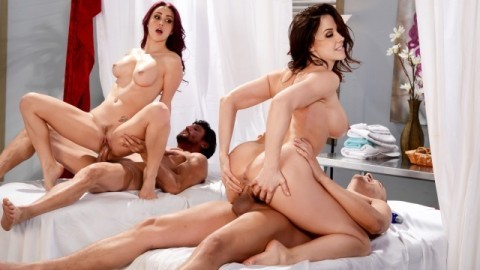 Best Of Brazzers: Massage Mania With  Monique Alexander, Lisa Ann And Others