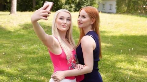 Lesbea - Blonde Lovita Fate and redhead Kiara Lord lesbians fuck