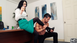 Amber rayne double anal action doggystyle mouth swallow