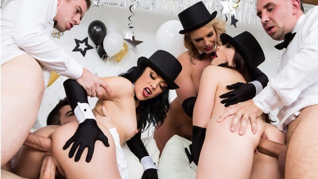 Brazzers - Phoenix Marie Kristina Rose Chanel Preston New Years Eve Hardcore Orgy 2017