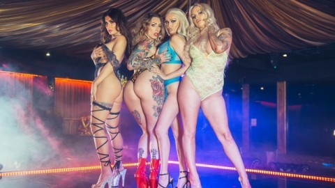 Strippers Princess Jasmine, Ava Austen And Louise Lee With Honour May Make Lesbian Orgy